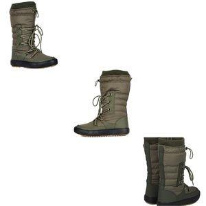 Warm Snow Mid Calf Drawstring Boots